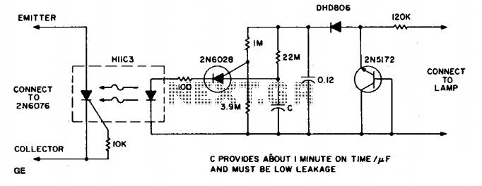 Warning light - schematic