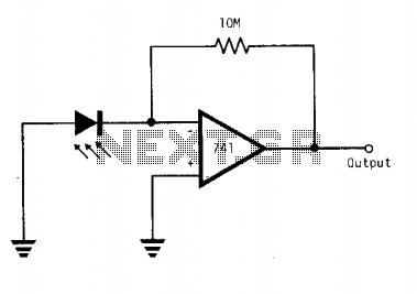 LED operates as light sensor  - schematic