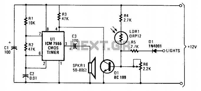 Twilight switch circuit - schematic