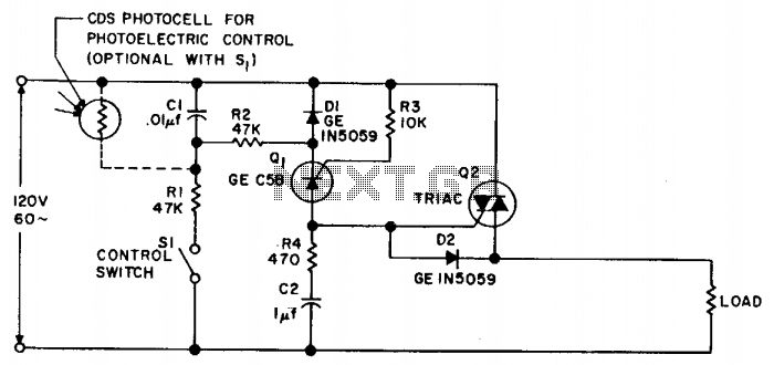 Photoelectric switch  - schematic