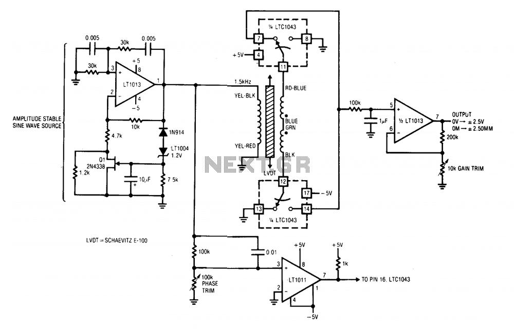 linear transformer signal conditioner under wein bridge oscillator circuits