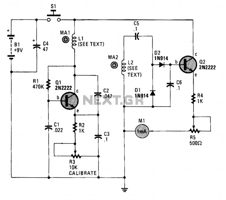 magnetometer under meters circuits