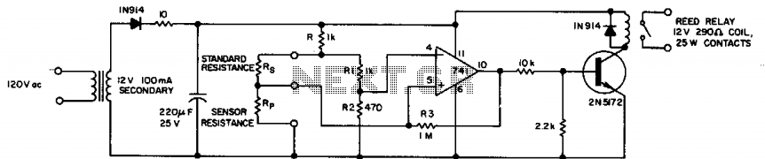 Resistance-ratio detector  - schematic