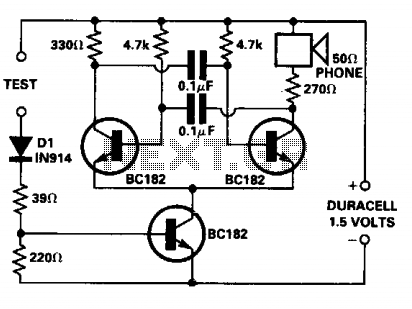 Continuity tester for pcb - schematic