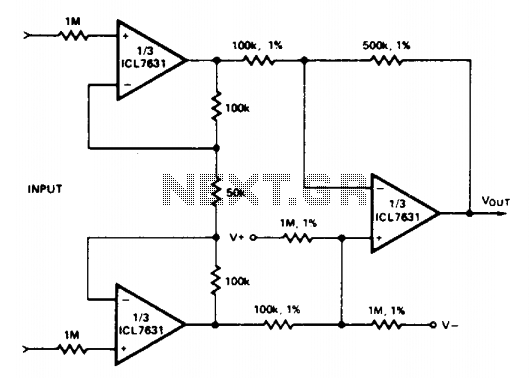 Medical instrument preamplifier - schematic
