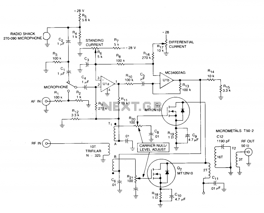 RF modulator  - schematic