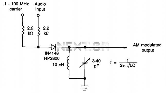 amplitude modulator - schematic