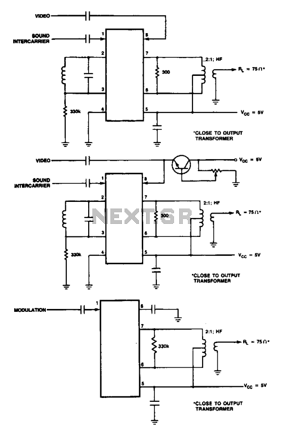 Video modulator circuit - schematic