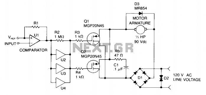 Pwm motor speed control - schematic