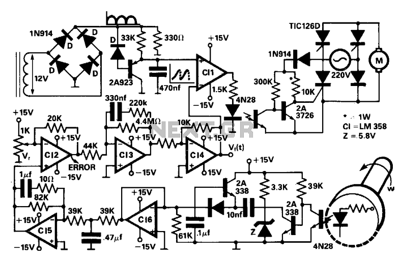 Shaver Motor Drive Circuit It Shows A Typical Motor Drive Circuit