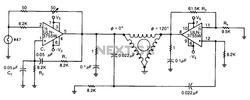 Three-phase ac motor driver 2 - schematic