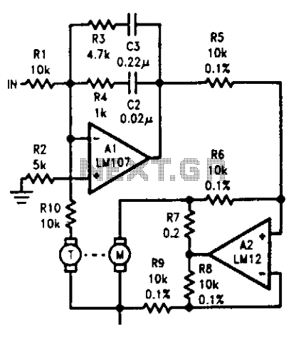 Motor-tachometer speed control - schematic