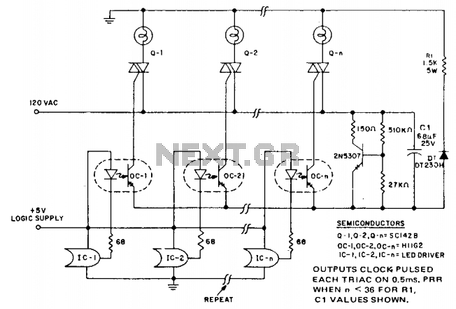 Microprocessor triac array driver