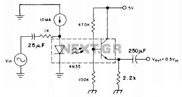 Linear ac analog coupler - schematic