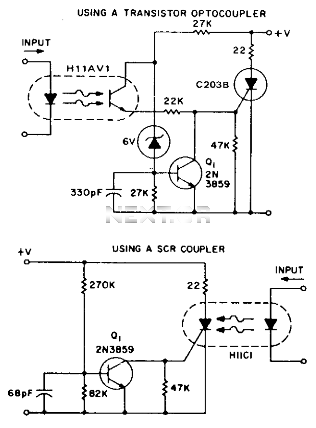 Isolation and zero voltage switching logic - schematic