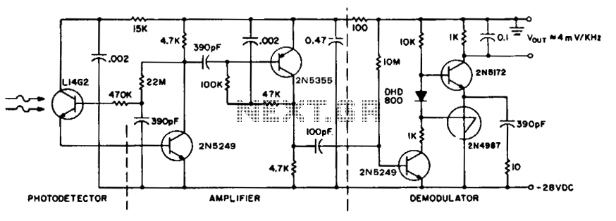 Receiver for 50 khz optical transmitter  - schematic