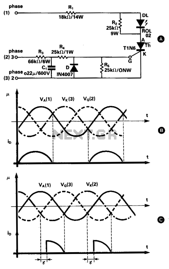 Three phase tester  - schematic