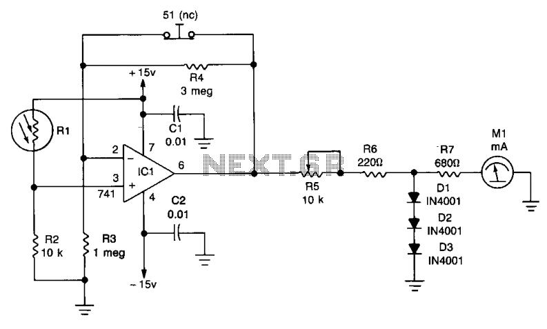 Contrast meter  - schematic
