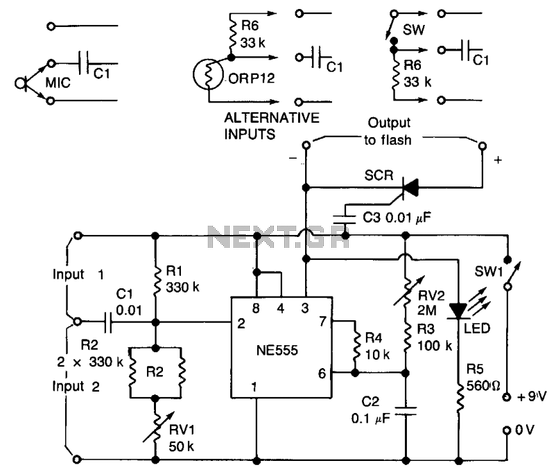 Electronic flash trigger  - schematic