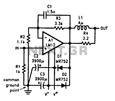 Audio power amplifier  - schematic