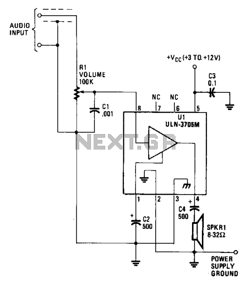 Low power audio amplifier 