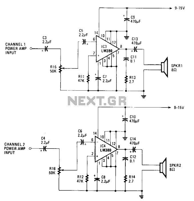 Walkman amplifier  - schematic