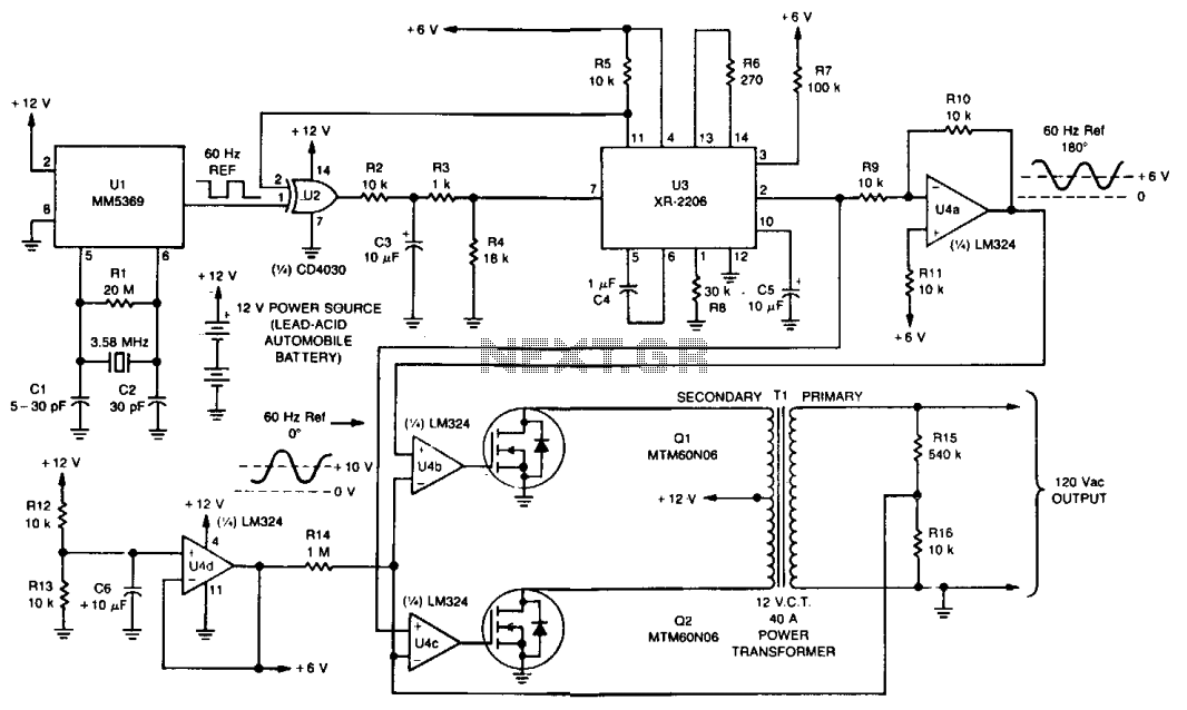 power supply for PC  - schematic