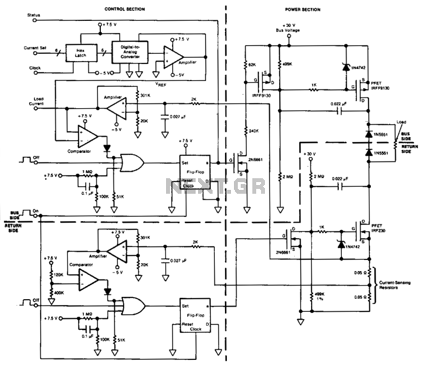 Power-switching circuit  - schematic