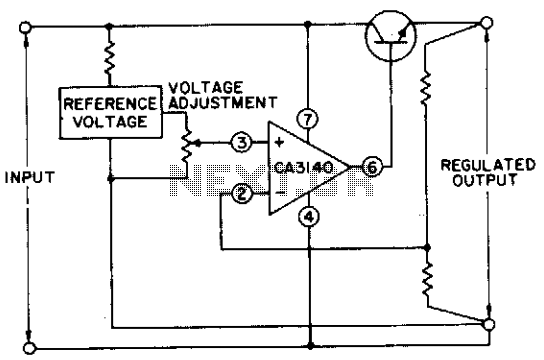 Basic single-supply voltage regulator