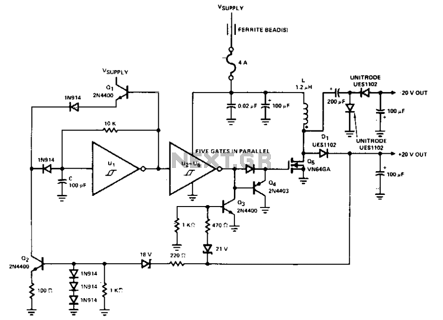 Switching inverter for 12v systems  - schematic