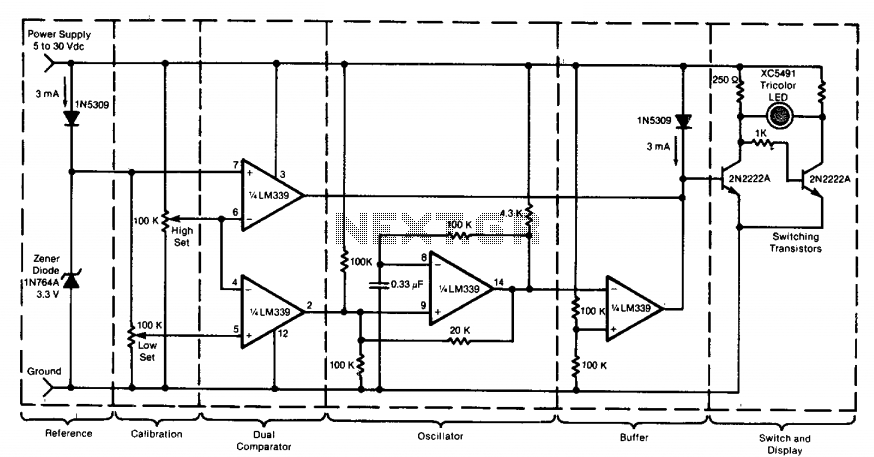 Power supply monitor  - schematic