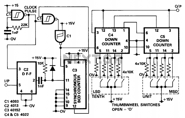 non-integer programmable pulse divider under varius circuits