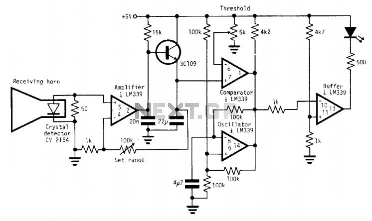 One-chip radar detection circuit  - schematic
