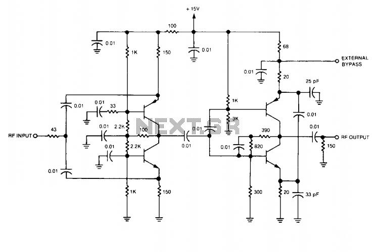 RF isolation amplifier  - schematic