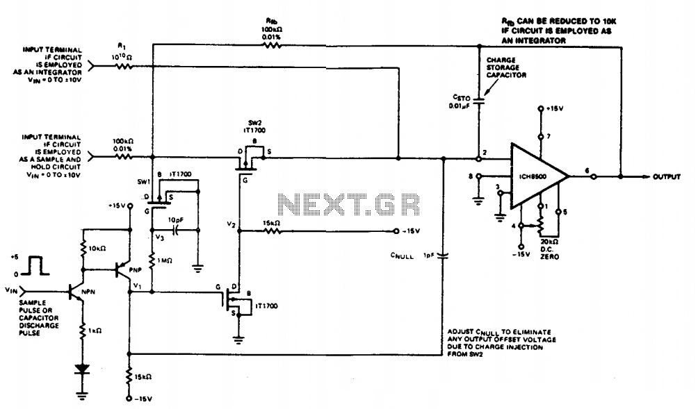Sample and hold circuit II  - schematic