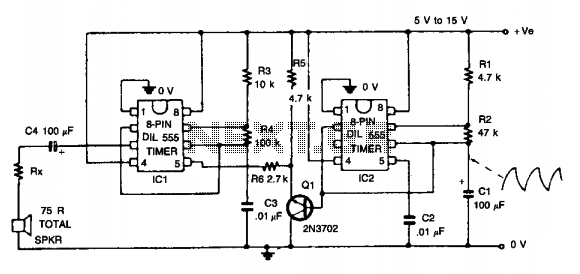 Wailing alarm  - schematic