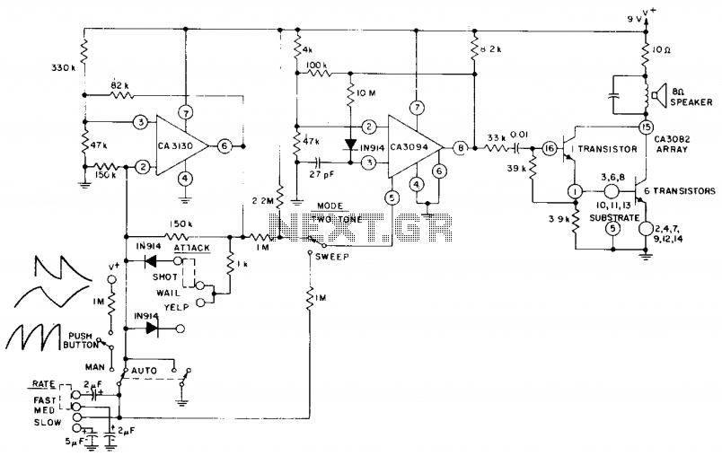 Siren system circuit  - schematic