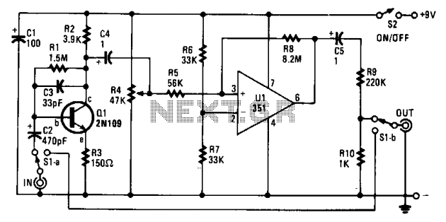 Fuzz circuit  - schematic