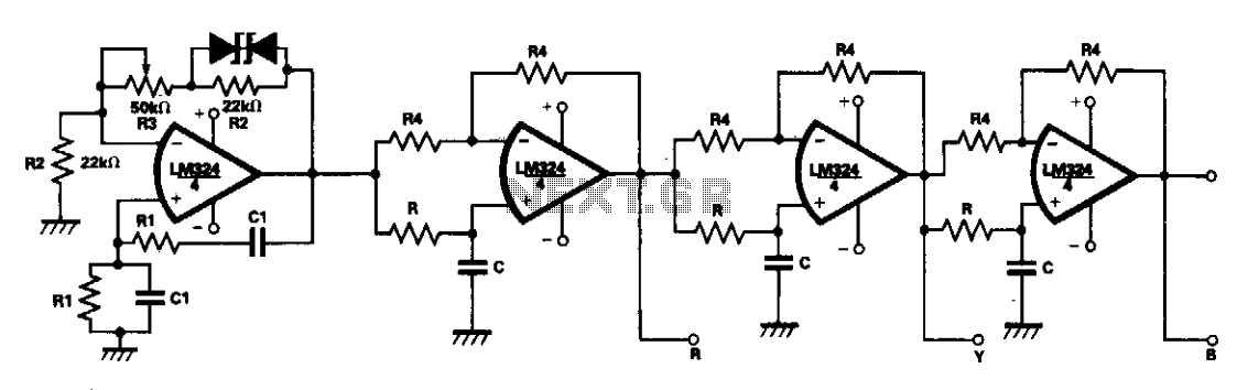 Phase tracking three-phase generator  - schematic