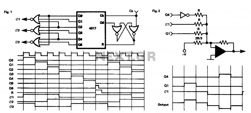 Three phase square-wave output generator 