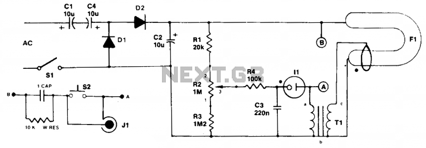 Simple strobe circuit  - schematic