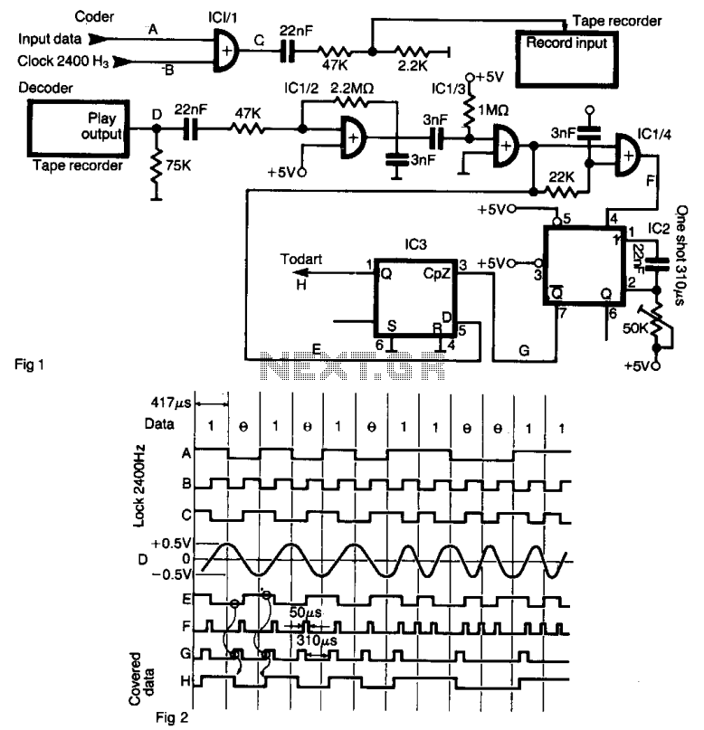 Tape recorder interface  - schematic