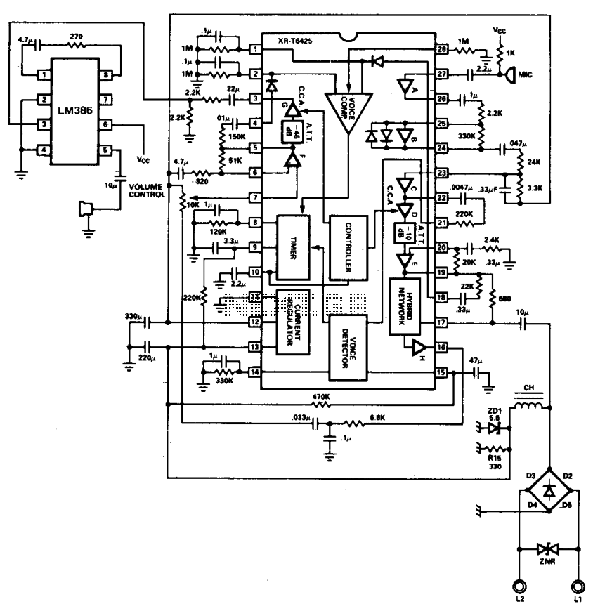 Speakerphone - schematic