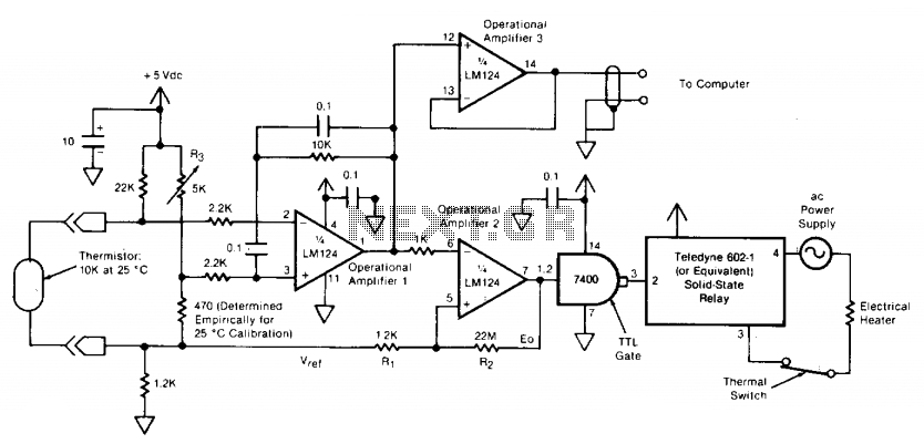 Temperature-controlling circuit  - schematic