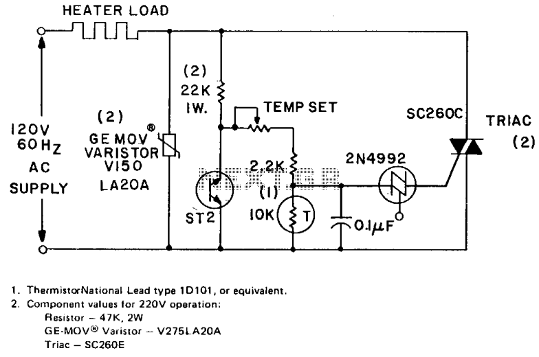 Heater temperature controller  - schematic