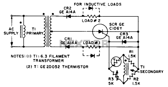 Dual over-under temperature monitor  - schematic