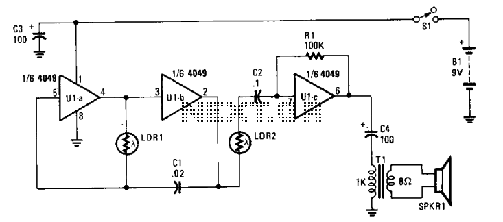 Electronic theremin  - schematic