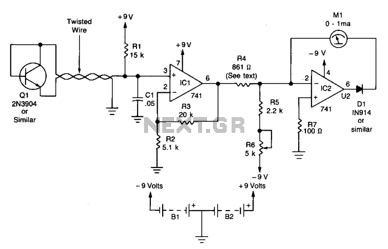 Electronic thermometer  - schematic