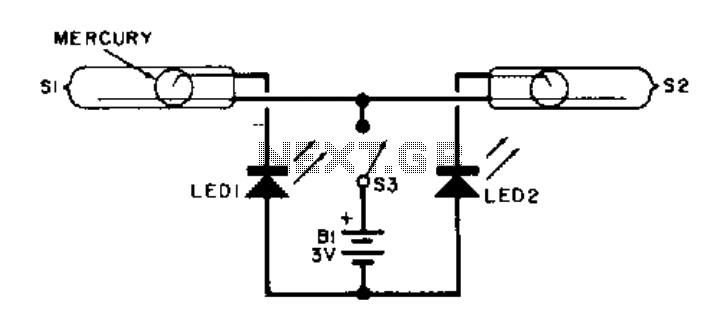LED tilt level  - schematic