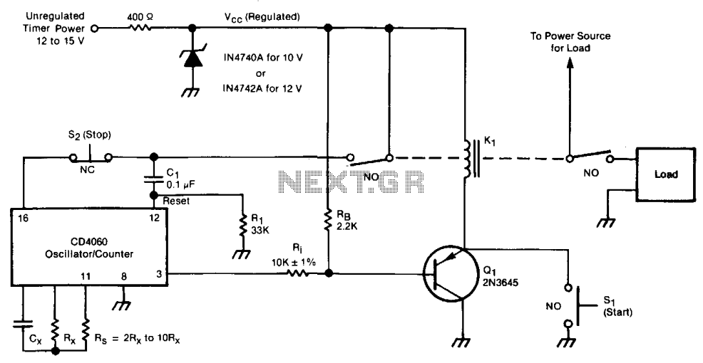 Long-term electronic timer  - schematic